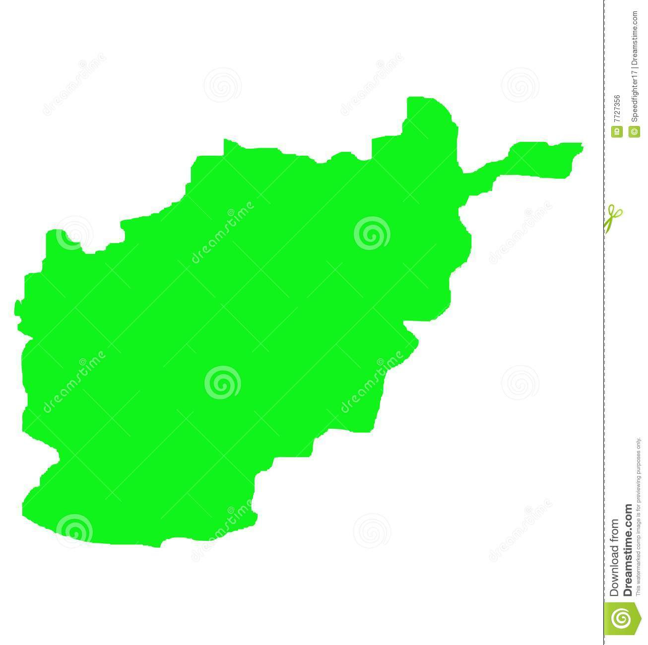 Afghanistan Map Outl