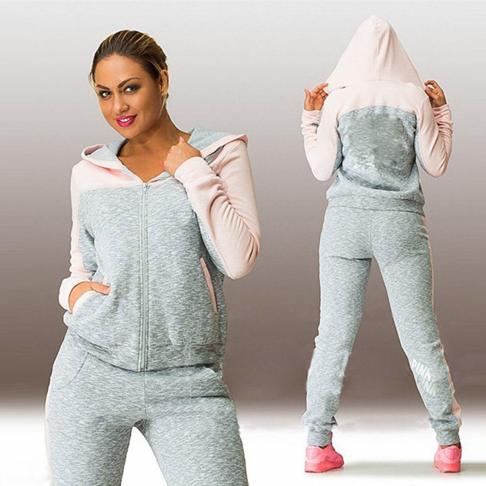2017 wholesale 2016 new women hoodies tracksuit sportswear