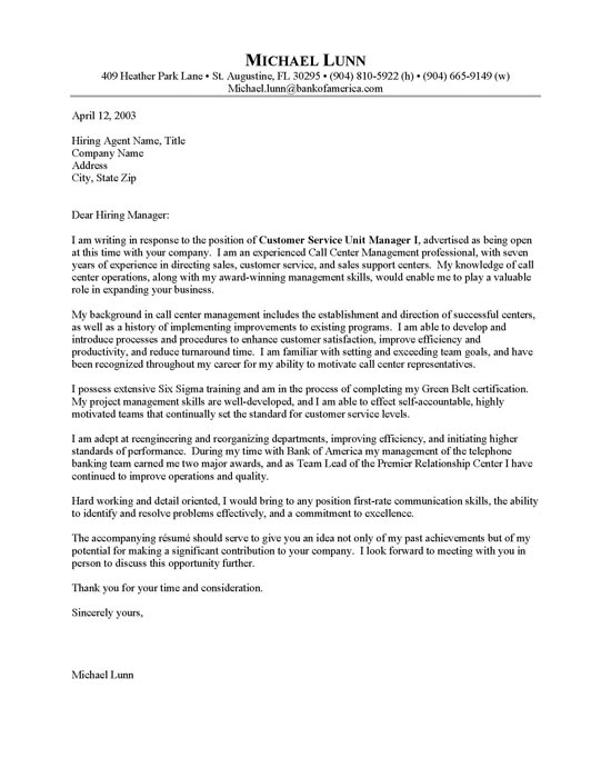Sample Cover Letter For Call Center Agent Without Experience Sample Cover Letter