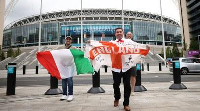 На финале Евро-2020 на «Уэмбли» присутствуют 67 173 зрителя