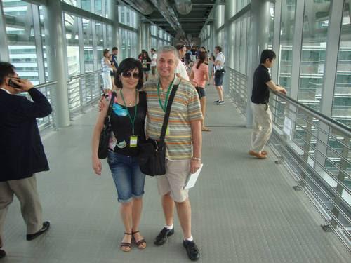 На Sky bridge в Petronas Towers