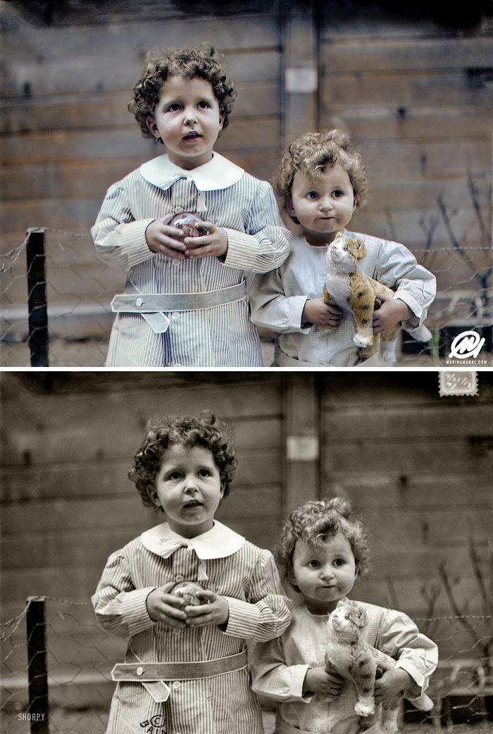 Los hermanos Michel y Edmond Navratil, los únicos niños rescatados del Titanic sin nadie a su cargo, 1912