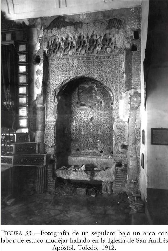 Arcosolio mudéjar descubierto en la Iglesia de San Andrés en 1912