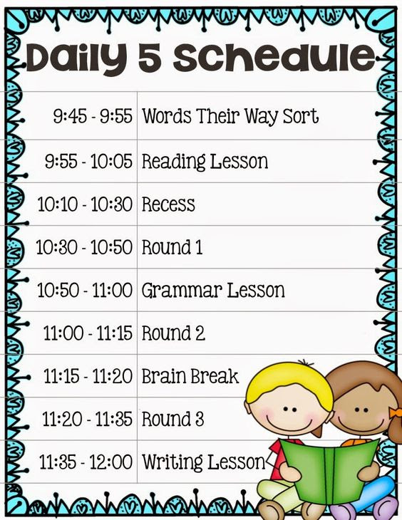 Implementing The Daily 5 In Second Grade - Our Daily Schedule ...