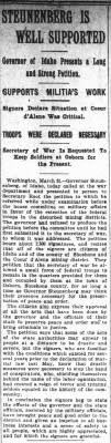 4/1/1900 - STEUNENBERG IS WELL SUPPORTED