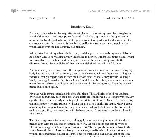 write a descriptive essay of the perfect place to study