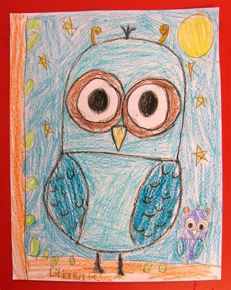 teach   draw gorgeous owls  grade  art lessons