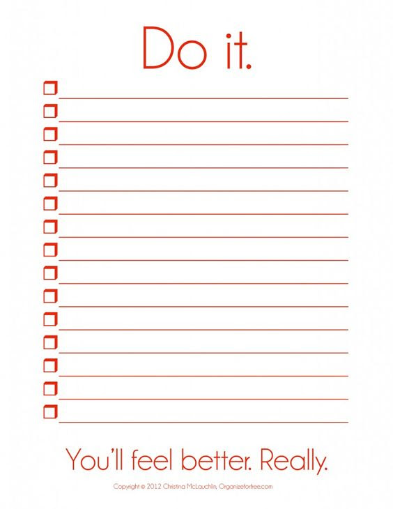 I so need this! ~ Things To Do Template PDF   Free Printable To Do ...