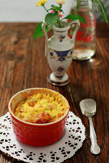 Cheesy Baked Broccoli Egg with Cheese
