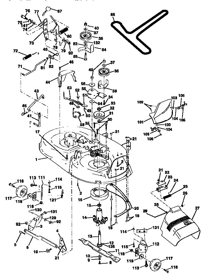 Craftsman Lt1000 Deck Belt Diagram