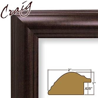 Craig Frames Inc 24 X 36 Dark Walnut Brown Smooth Wood Grain
