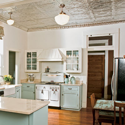 Tin Ceiling Tiles In The Kitchen