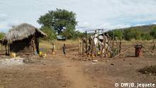 Verlassene Häuser in Manica Mozambik
