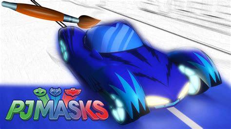 pj masks cat car gekko mobile owl glider coloring pages