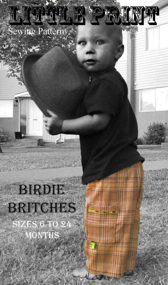 Birdie Britches ePattern - pants for baby-toddler