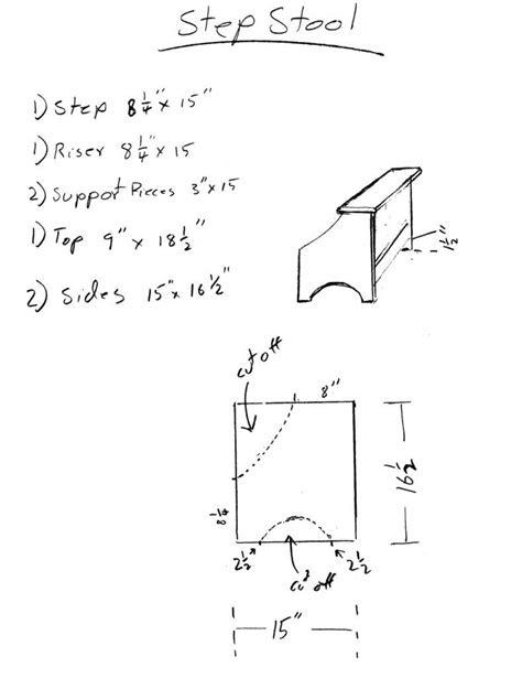 simple step stool  design plans step stool stool