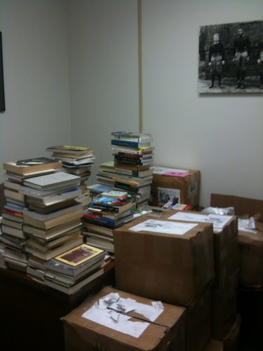 My office, with only a few books unpacked