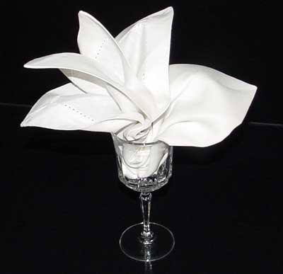 The finished napkin fold