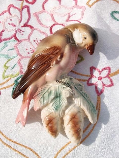 Ceramic Parrot - front