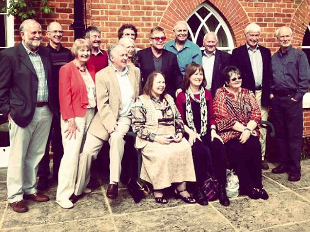 Sir Elton John joins former classmates at school reunion... 57 years after they all first