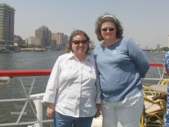 Erika and Adrienne on the Nile
