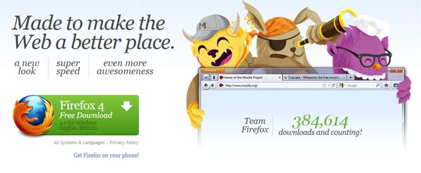 Firefox 4 launched