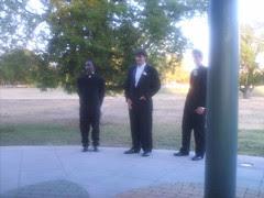 Pastor, groom, bestman