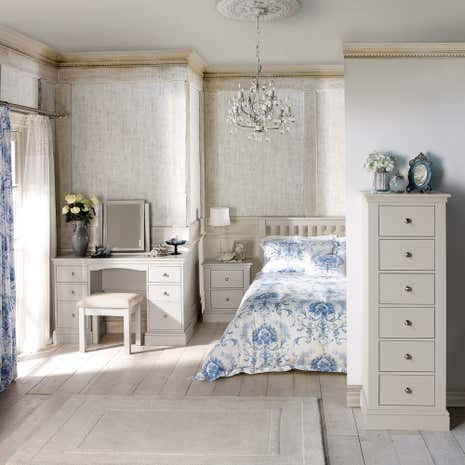Blakely White Bedroom Collection | Dunelm