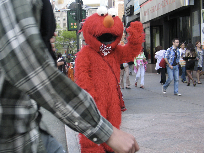 Elmo, in Herald Square