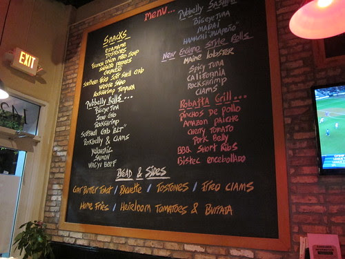 Pubbelly Sushi menu