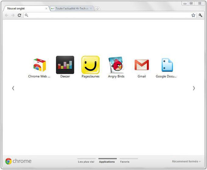 Onglet Chrome