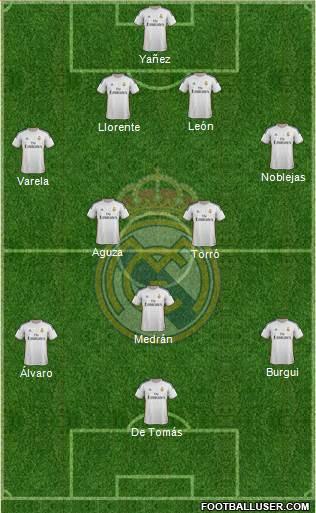 R. Madrid Castilla 4-2-3-1 football formation