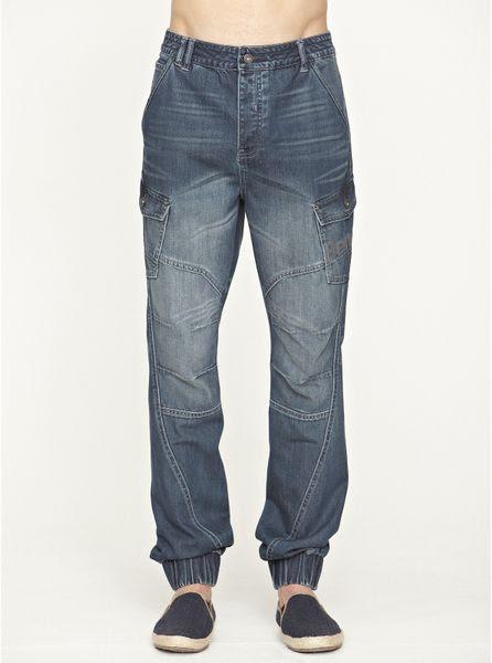 Bench Bench Fader Carrot Fit Mens Jeans in Blue for Men dark_wash