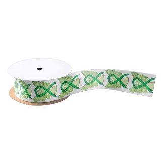 Green Awareness Ribbon Angels Custom Design