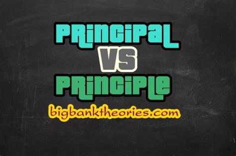 penjelasan lengkap tentang perbedaan principal  principle