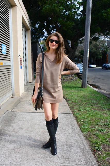 sweater dress d