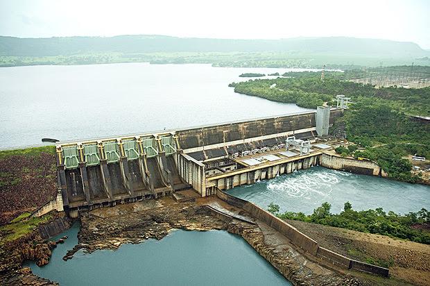 Usina de Jaguara, localizada no Rio Grande, em Rifânia (MG)