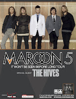 Maroon 5 in concert with The Hives
