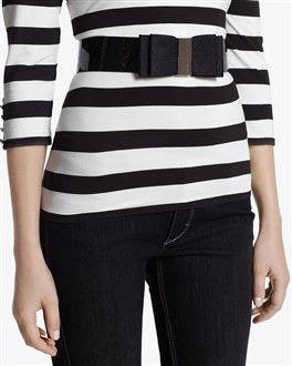 White House Black Market Stretch Bow Belt