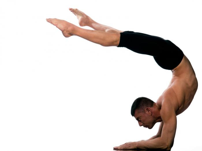 man in an ashtanga yoga pose