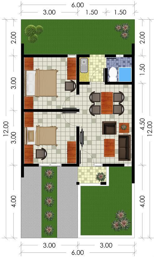 Desain Rumah Subsidi Minimalis - Contoh Z