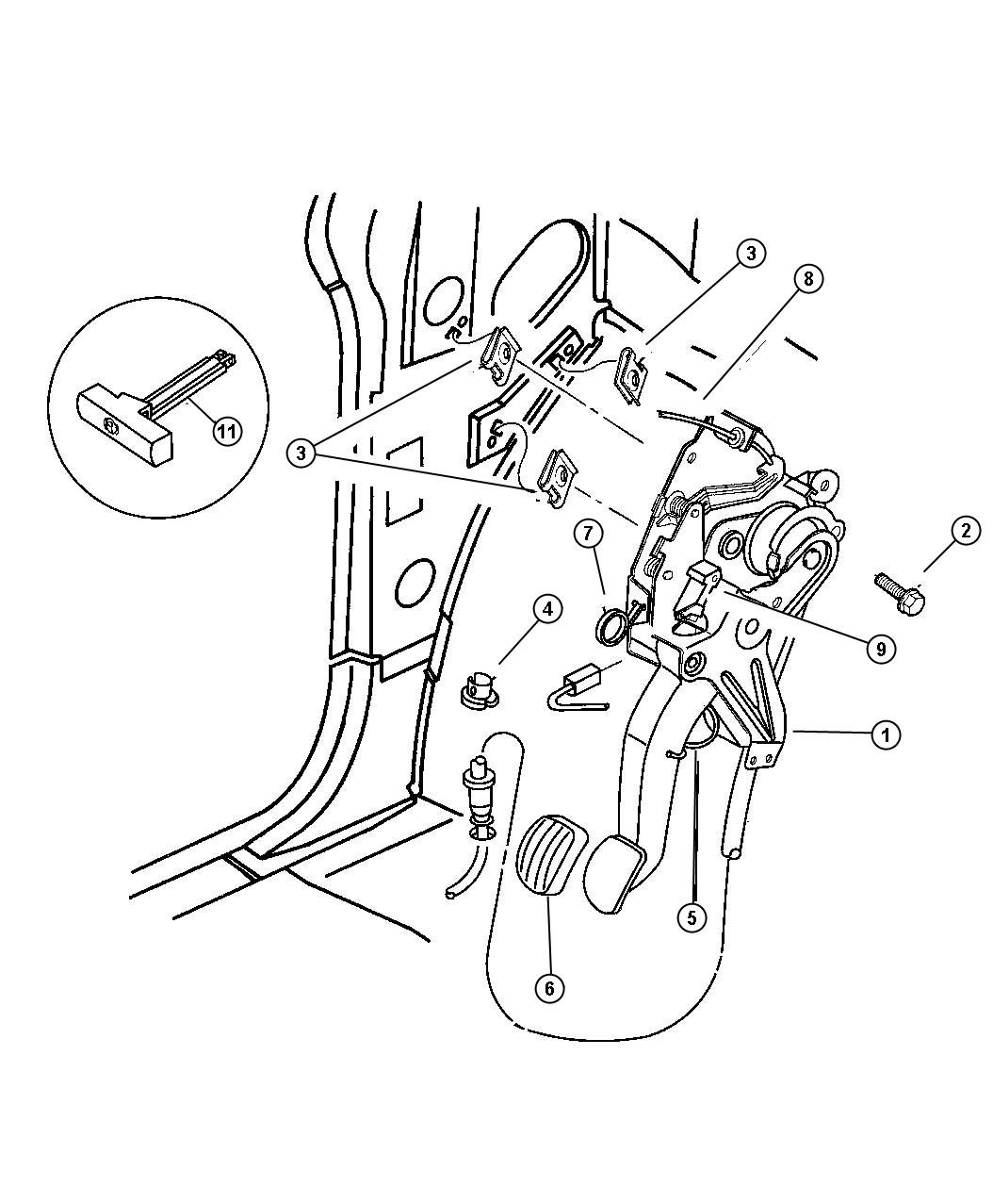 1998 Plymouth Grand Voyager Lever, Parking Brake