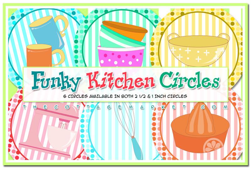 FREE Funky Kitchen Circle Printables & Some Kitchen Fun - The