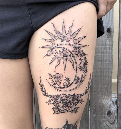 meaningful  beautiful sun  moon tattoos hannah