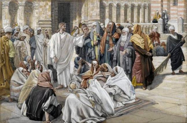 Arquivo: Brooklyn Museum - Os fariseus Pergunta Jesus (Les pharisiens questionnent Jésus) - James Tissot.jpg