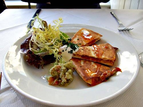 The Allotment vegetable quesilladas
