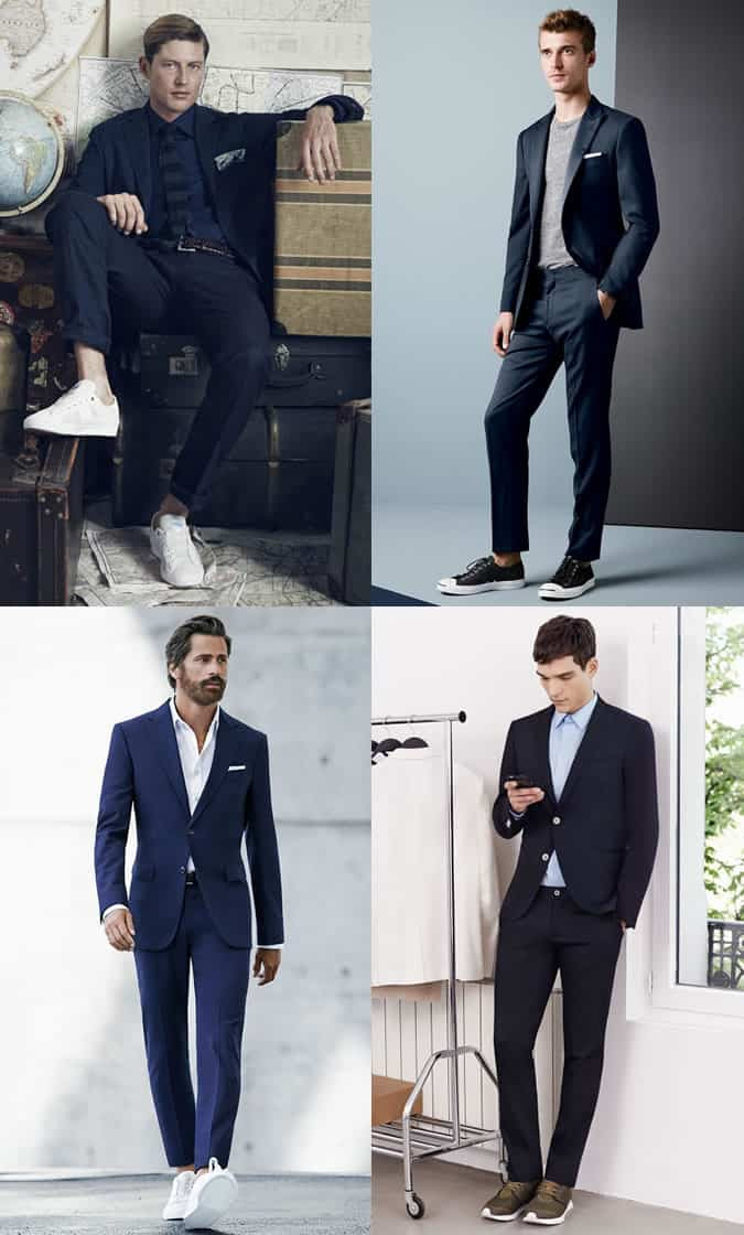 Men's suits With Trainers Outfit Inspiration Lookbook