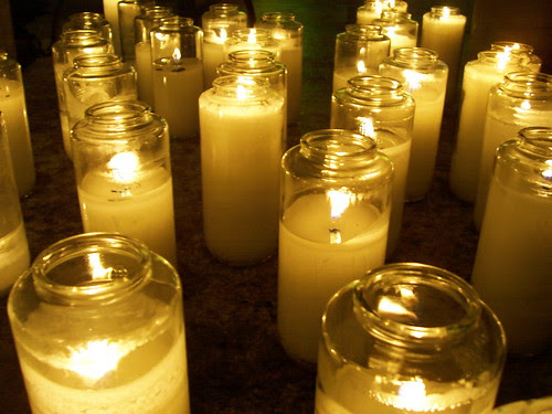 We light candles