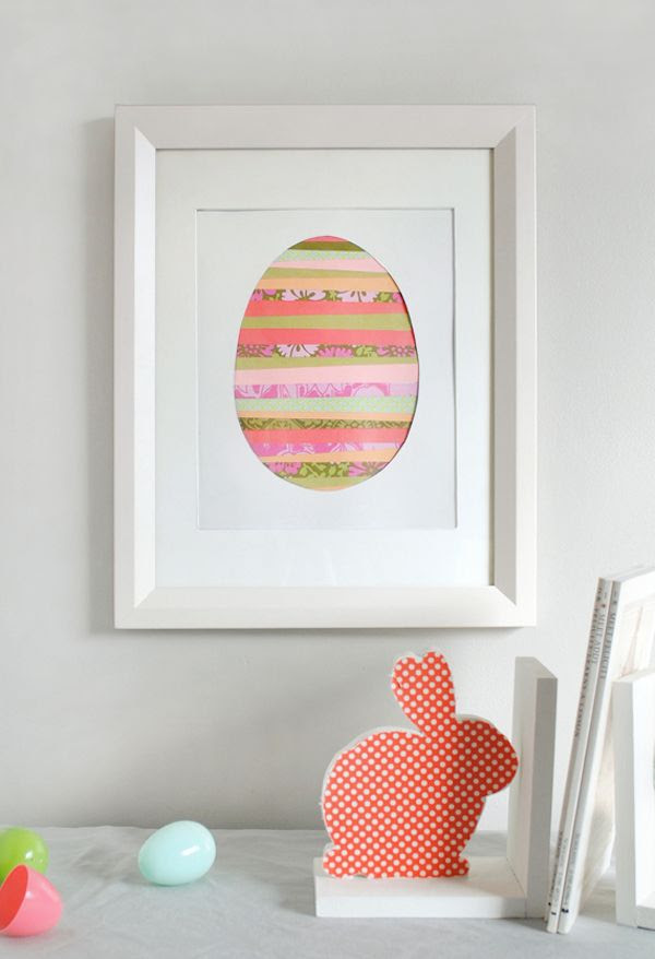 Easy Easter crafts with household objects: Paper strip Easter eggs are so pretty! Tutorial by Mer Mag at Minted.