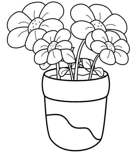 Flower Coloring Pages Crafts And Worksheets For Preschool Toddler And Kindergarten